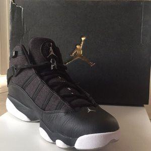 sports shoes 16db3 2e99a Black/Matte Silver-White JORDAN 6 RINGS Sneakers